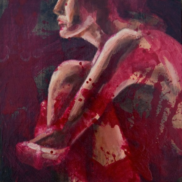 Figure Washed in Red