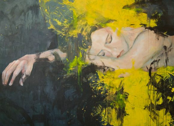 Figure Immersed In Yellow