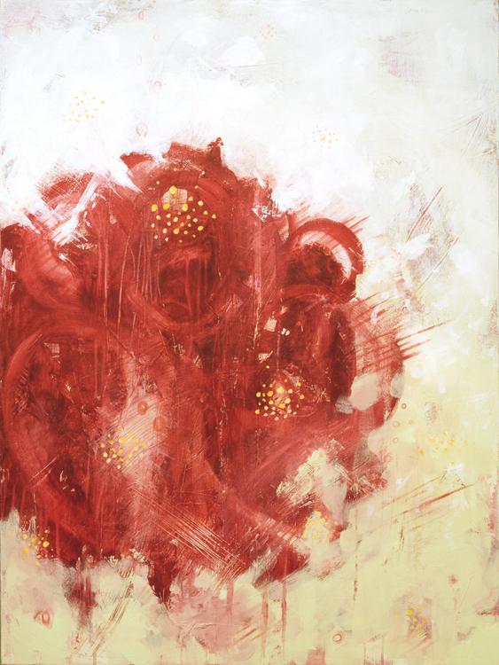 Rosa Foetida in Red 2012 30x40