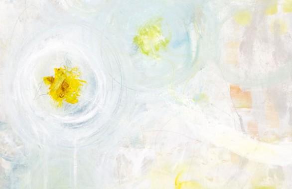 4 Yellow Hibiscus On Blue