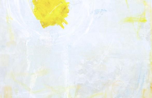 Yellow Hibiscus On Blue